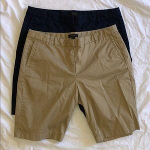 2 J. Crew Ladies Bermuda Shorts Size 10 EUC